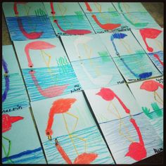 2nd grade flamingo reflections