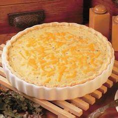 Cheeseburger Quiche Recipe | Taste of Home