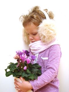 Earmuffs beige girl ear muffs children accessory by RainbowMittens,
