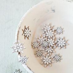 white glitter Christmas stars