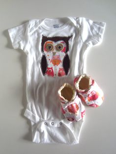 Baby Girl Owl Gift Set by jengalaxy on Etsy, $24.95