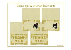 """Free Printable """"Brave"""" Thank You & Menu/Place Cards- can be personalized for $3"""