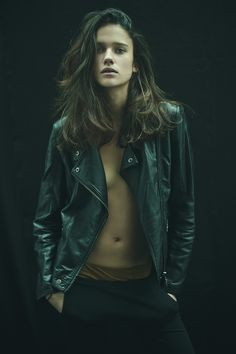 fashion, girl, portrait photography, biker jackets, style, long hair, beauti, leather jackets, textured hair