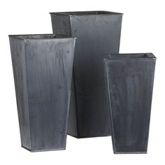 Zinc planters. Love. Now I just have to stop killing all my container plantings!!!