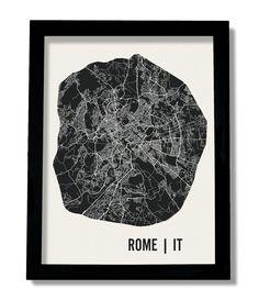 Rome Map Art