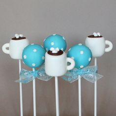 Snowed In Cake Pops with Hot Chocolate