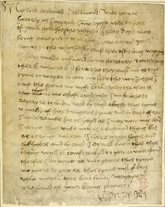 Letter from Henry VIII to Wolsey