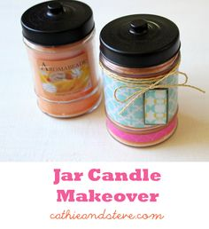 Makeover a Jar Candle with Mod Podge and Scrapbook Paper