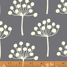 Echo 33403-4 Gray Florine by Lotta Jansdotter for Windham