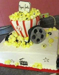 popcorn movie cake Pete the Popcorn would like this! www.Facebook.com/Petethepopcorn and http://www.amazon.com/Pete-Popcorn-Mr-Nick-Rokicki/dp/1468036467/ref=sr_1_1?ie=UTF8=1357171274=8-1=pete+the+popcorn