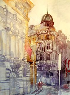 New watercolour paintings by Maja Wrońska