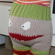 Free knitting pattern for Monster Baby pants