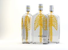 This Spine-Tingling Vodka Bottle Has A Glass Human Skeleton In It