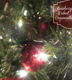 Strawberry Walnut Ornaments