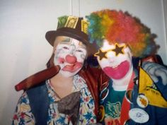 Author #MollyOKeefe is clowning around in her #Halloween photo!  Q: Tell me about this photo. A: This is me with my best friend in 5th Grade. I'm in the rainbow wig. This costume was a carry-over from a clowning badge we were after for Girl Scouts. We took it VERY seriously ;)    Q:What's your favorite paranormal romance? A: My favorite PNR is a toss up between Karen Marie Moning's Fever Series and JR Ward's Black Dagger Brotherhood. I love them both like crazy.