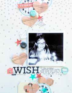 #papercraft #scrapbook #layout.   Epic Wish by ginny at @Studio_Calico