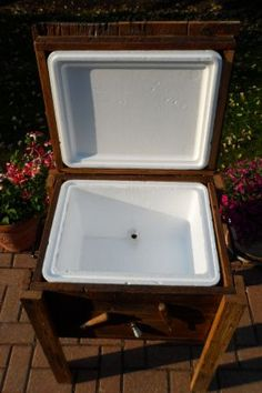 wood cooler chest