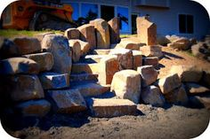 Garden Stone Creations - wow. The boulders are so huge. It makes a monumental statement.