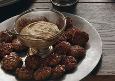 Homemade Bratwurst Bites with Beer and Horseradish Mustard - Bon Appétit