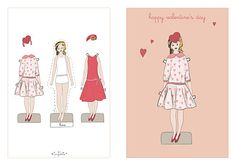 Customized Valentine Paper Doll Card