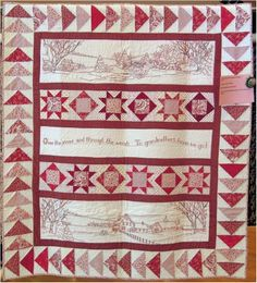 """""""Over the River and Through the Woods"""" by Phyllis Day, photo by Quilt Inspiration"""