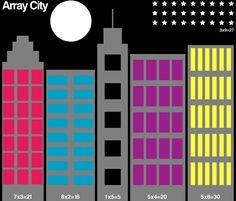 MATH ACTIVITY~  Create an array city!