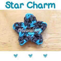 Rainbow Loom Star Charm by TutorialsByA