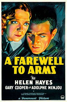 Based on Hemingway: A wartime nurse (Helen Hayes) and ambulance driver (Gary Cooper) find (forbidden) love (Army regulations ban fraternization).