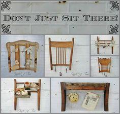 New Uses for Broken Chairs via KnickofTimeInteriors.blogspot.com