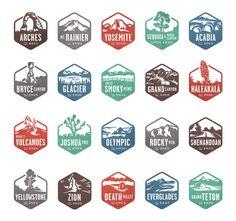 national parks stamps / valerie jar