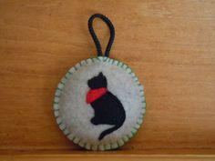 Cat Felt Ornaments