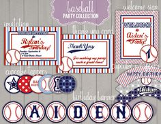 Baseball Printables Party Package