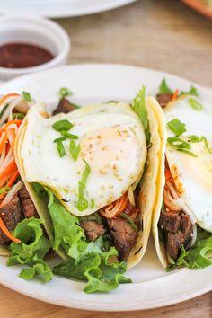 Make ahead:  Bibimbap Tacos  — Recipes from The Kitchn