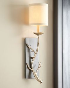 """""""Golden Branch"""" Sconce at Horchow."""