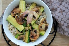 Barley, Mushrooms, and Zucchini