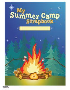 Free printable Camp scrapbook