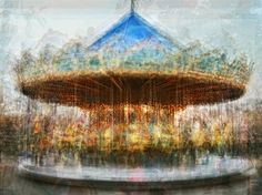 Pep Ventosa (b.1957, Spain) - In the round - Carousels | Carousel de la Tour Eiffel, Paris; Diavolo Tibidabo, Barcelona