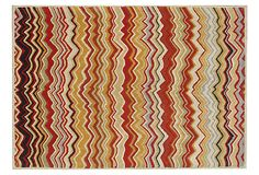 If Missoni had a baby with Safavieh. Elio Rug, Red/Multi on OneKingsLane.com