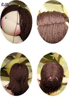 Waldorf doll hair making