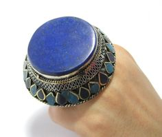 FREE SHIPPING Blue Lapis Lazuli Round Stone by CraftEast on Etsy, $65.00