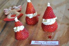 santa strawberri, christma