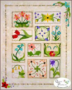 !!! beautiful flowers in applique