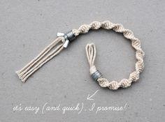 macramé: half knot spiral washer & wingnut bracelet