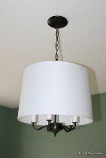 builder grade brass chandelier transformed