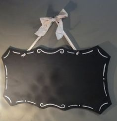 Adorable shaped hanging chalkboards! Simple instructions here :)