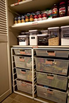 Something like this for the bottom of your pantry?