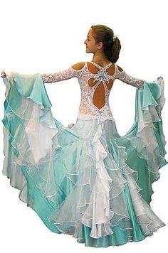 Beautiful bacl on this ballroom dress
