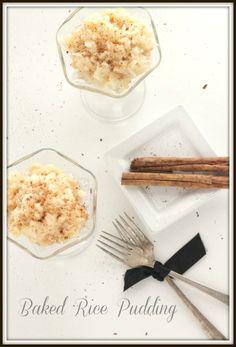 Baked Rice Pudding @createdbydiane