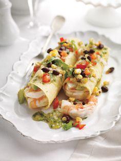 Shrimp and Avocado Enchiladas