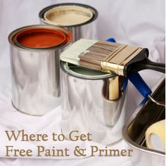 where to get paint & primer free